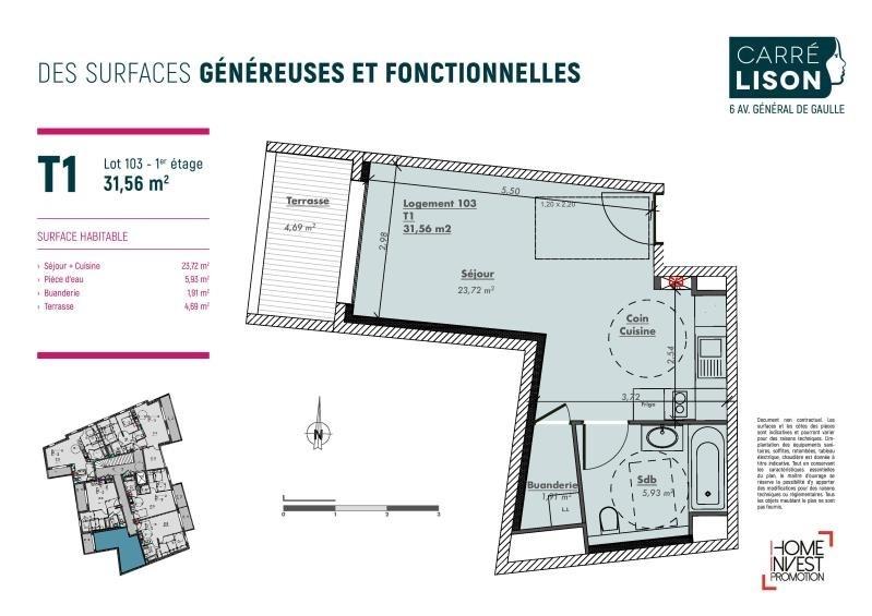 Deluxe sale apartment Charbonnieres les bains 191000€ - Picture 2