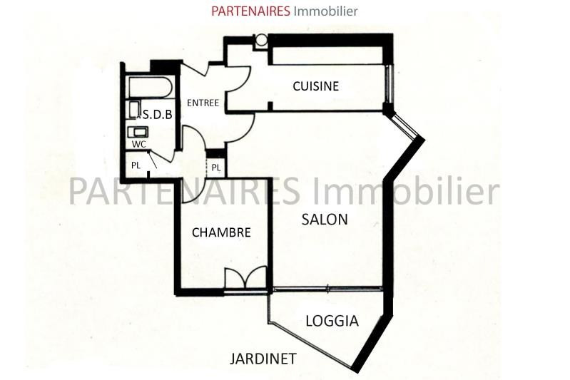Sale apartment Le chesnay 260000€ - Picture 4