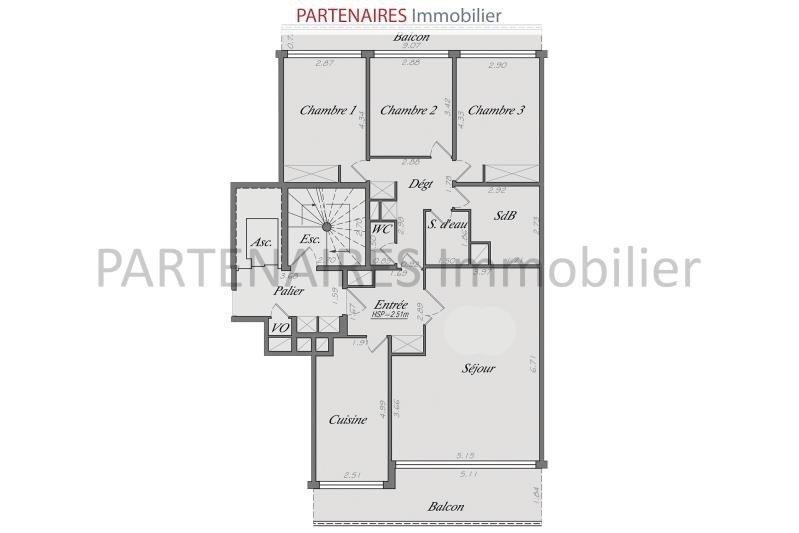 Vente appartement Le chesnay 540 000€ - Photo 9