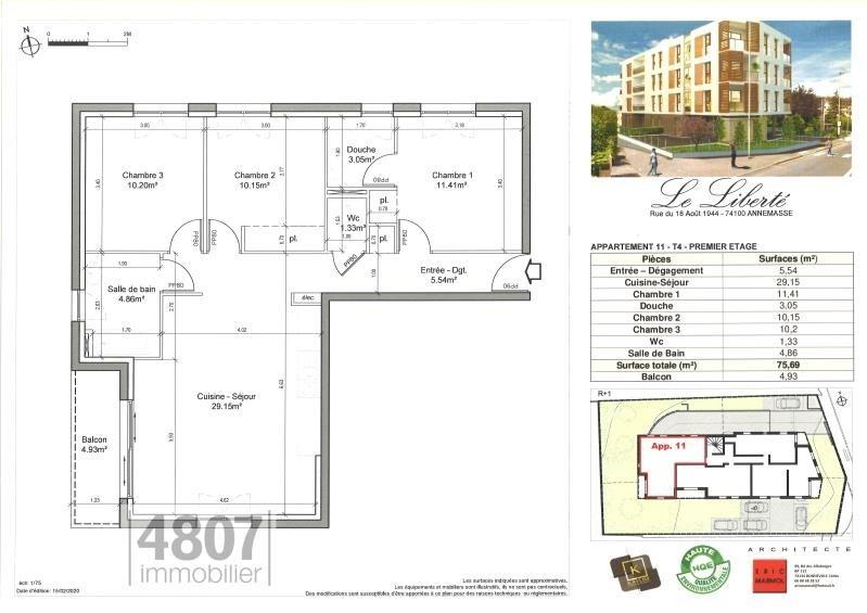 Produit d'investissement appartement Annemasse 310000€ - Photo 2