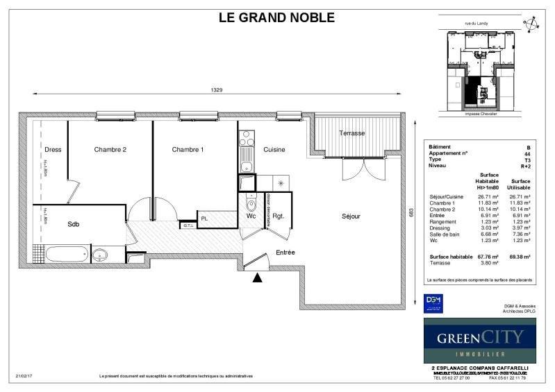 Rental apartment St ouen 1260€ CC - Picture 2