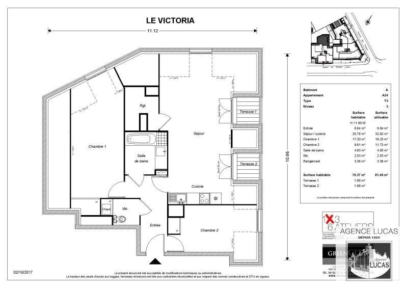Rental apartment Beauchamp 1000€ CC - Picture 2