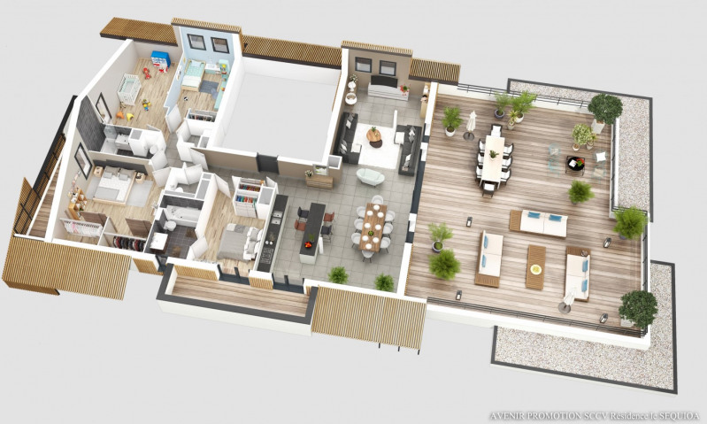 Vente de prestige appartement Monnetier mornex 680 000€ - Photo 2