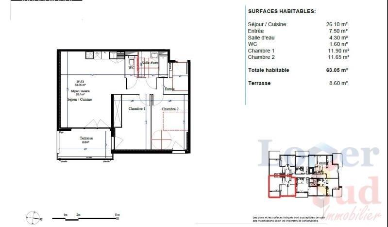 Sale apartment Montpellier 259500€ - Picture 3