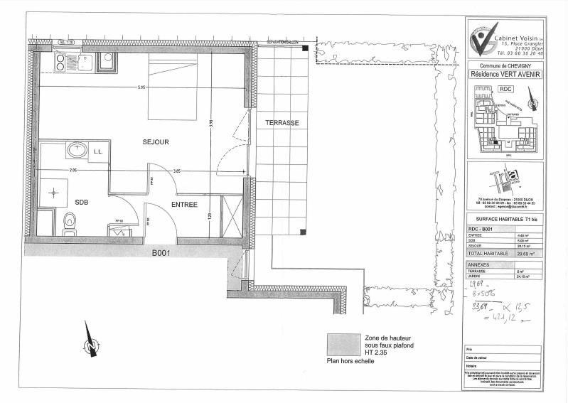 Vente appartement Chevigny st sauveur 73000€ - Photo 4