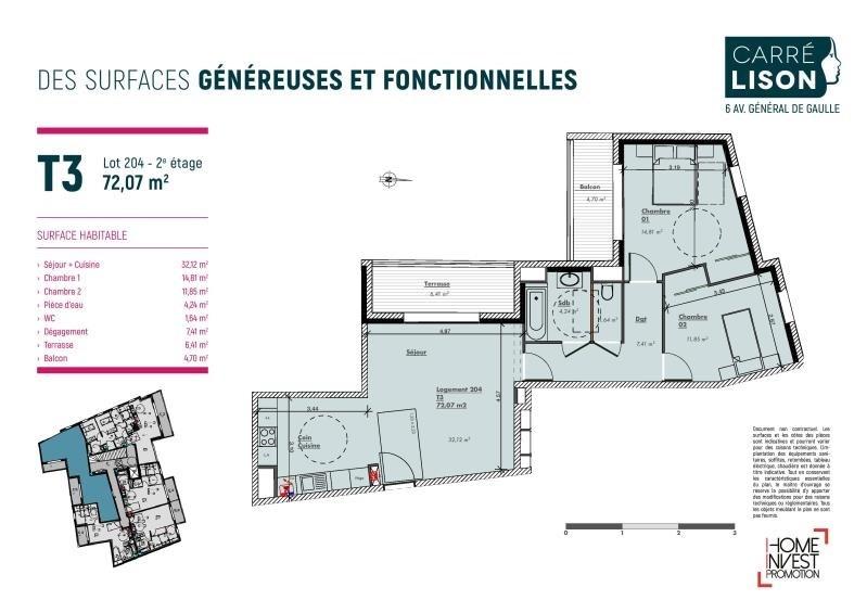 Sale apartment Charbonnieres les bains 370000€ - Picture 2