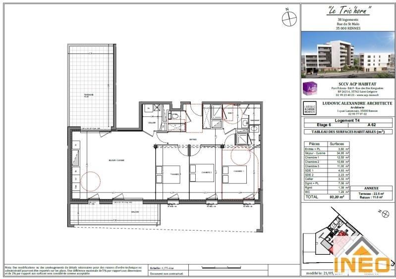 Vente appartement Rennes 385000€ - Photo 2