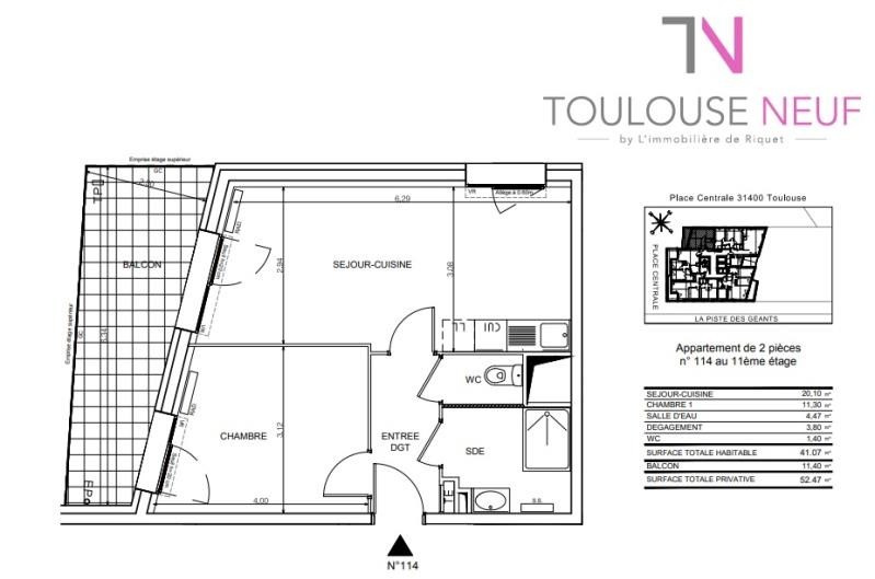 Vente appartement Toulouse 190 000€ - Photo 8