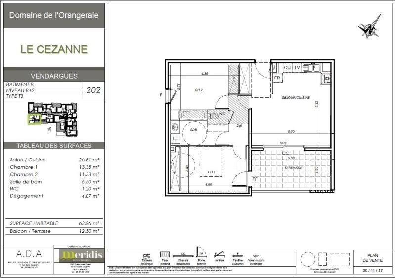 Rental apartment Vendargues 870€ CC - Picture 1