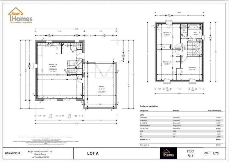 Sale house / villa La verpilliere 249409€ - Picture 2