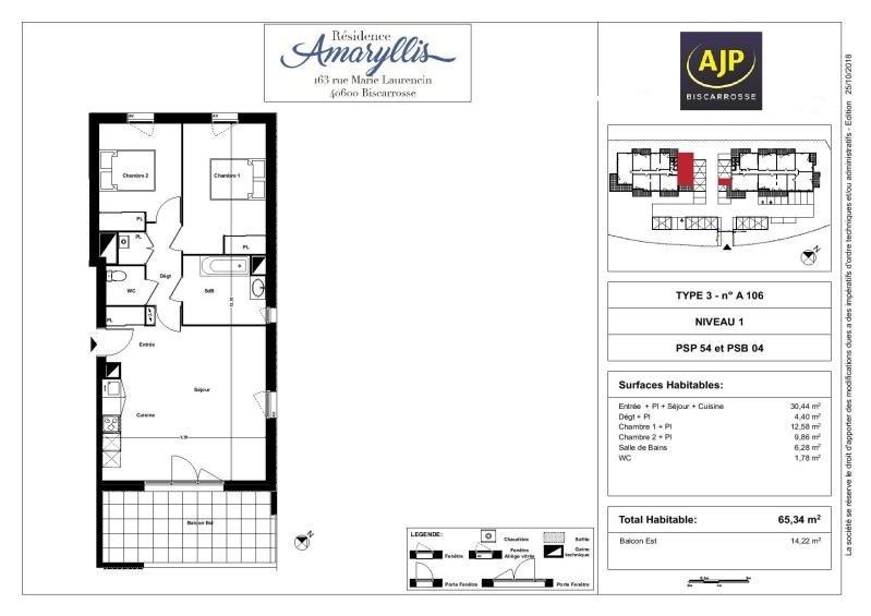 Vente de prestige appartement Biscarrosse 234100€ - Photo 1