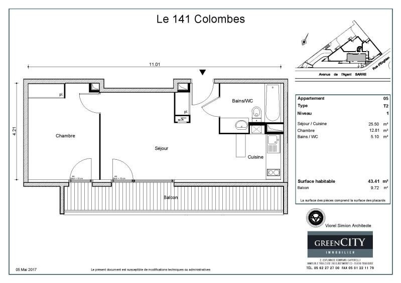 Rental apartment Colombes 965€ CC - Picture 2