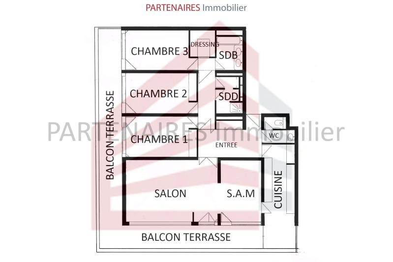 Vente appartement Le chesnay 628 000€ - Photo 12
