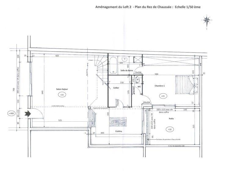 Sale loft/workshop/open plan Montelimar 142000€ - Picture 1
