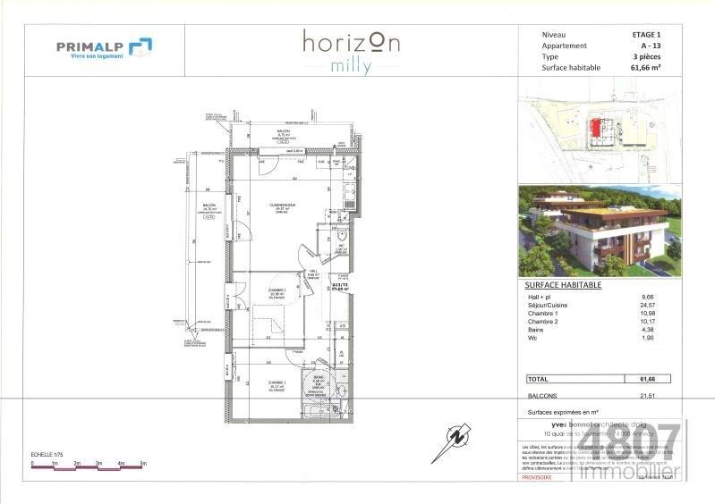 Vente appartement Lucinges 257000€ - Photo 3
