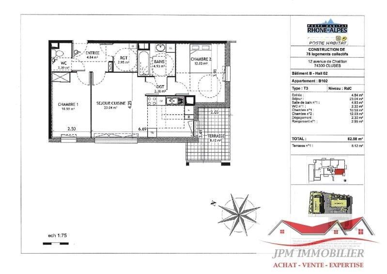Vente appartement Cluses 159500€ - Photo 3