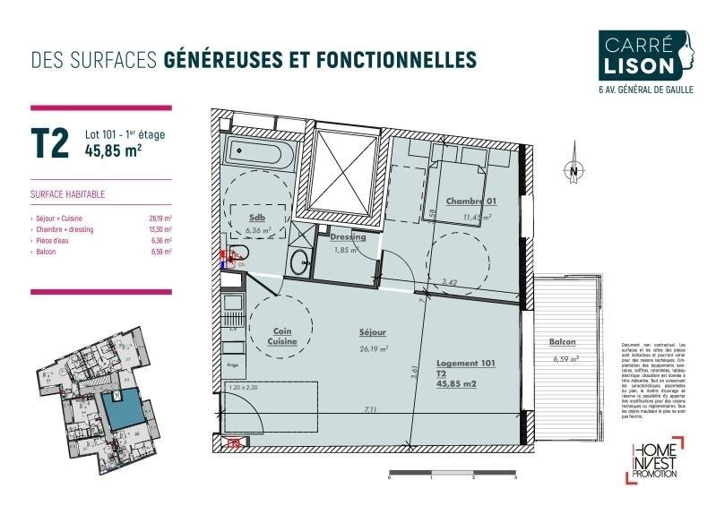 Vente appartement Charbonnieres les bains 240000€ - Photo 2