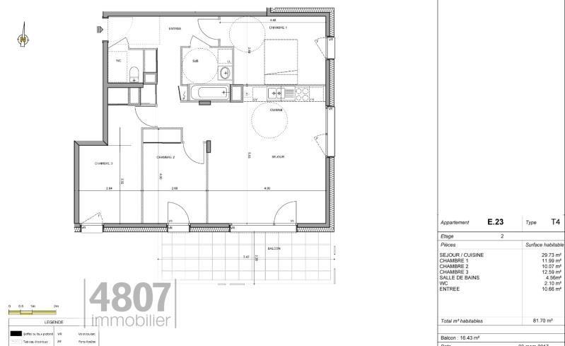Vente appartement Annemasse 339000€ - Photo 2