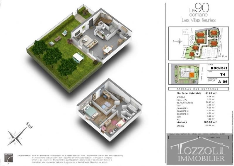 Vente maison / villa Villefontaine 217000€ - Photo 2