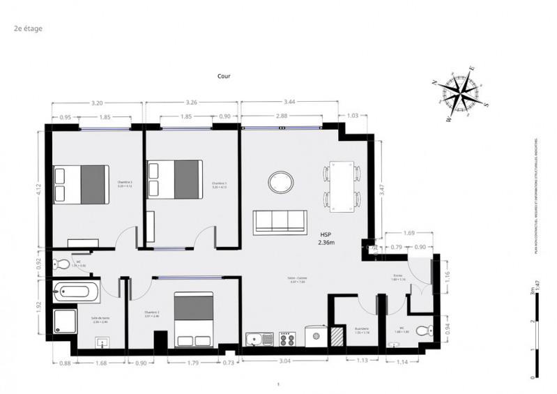 Vente appartement Paris 20ème 875000€ - Photo 1