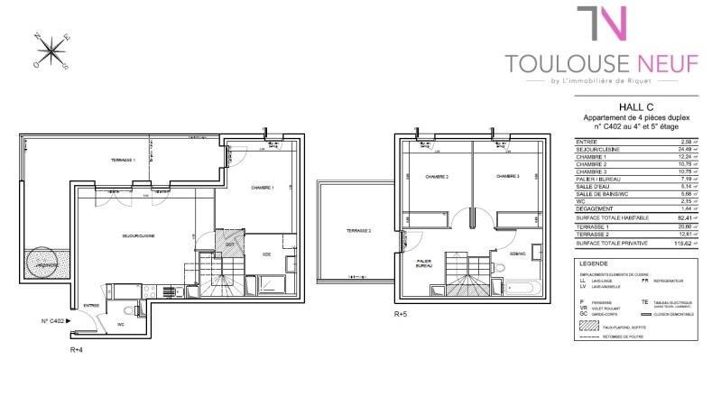 Vente appartement Toulouse 327000€ - Photo 6