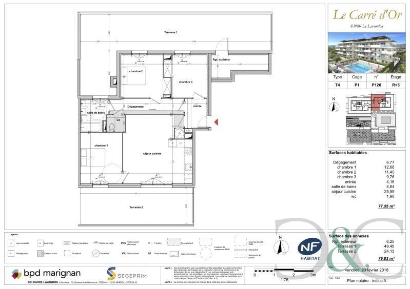 Vente de prestige appartement Le lavandou 420000€ - Photo 2
