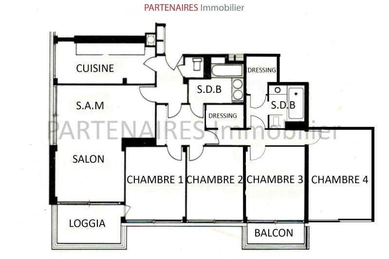 Sale apartment Le chesnay 537 000€ - Picture 6