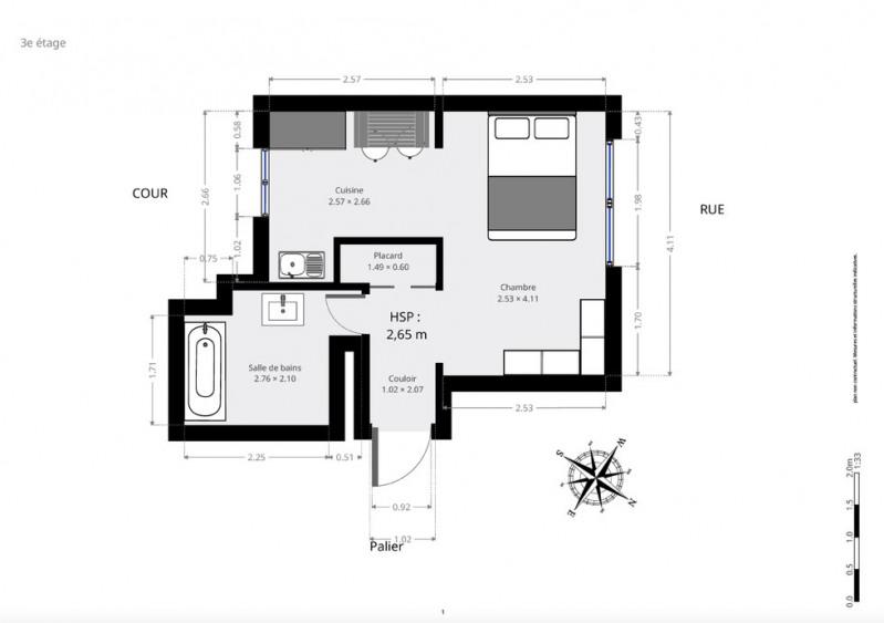 Produit d'investissement appartement Paris 5ème 488000€ - Photo 8