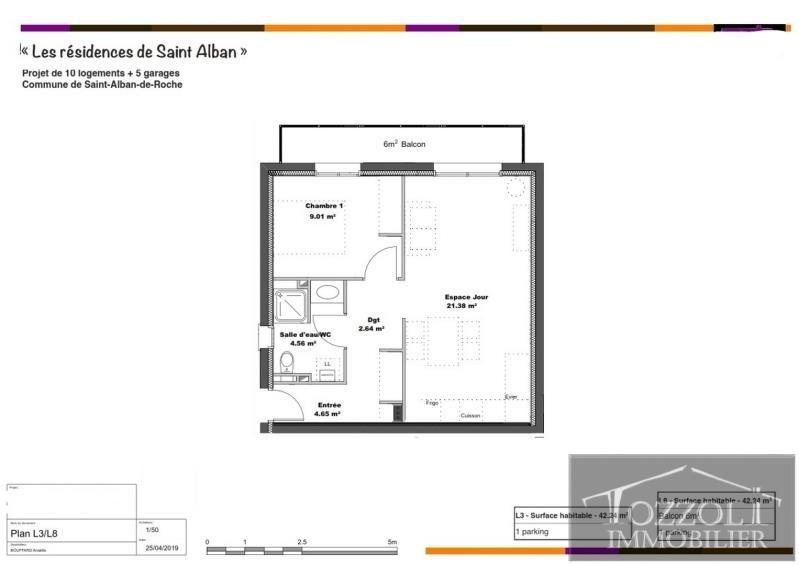 Vente appartement St alban de roche 136900€ - Photo 2
