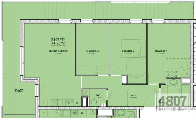 Vente appartement Servoz 361000€ - Photo 4