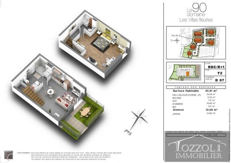 Sale house / villa Villefontaine 133000€ - Picture 2