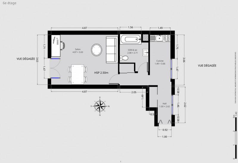 Vente appartement Paris 18ème 331000€ - Photo 8