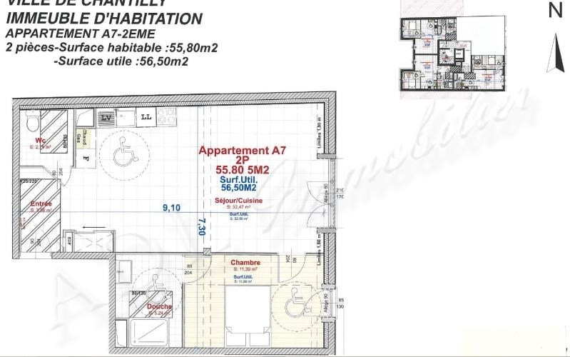 Vente appartement Chantilly 273000€ - Photo 2
