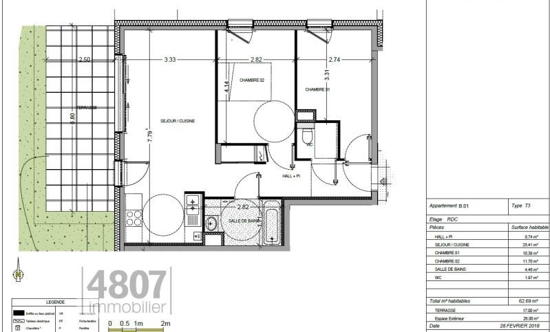 Vente appartement Annemasse 284000€ - Photo 1