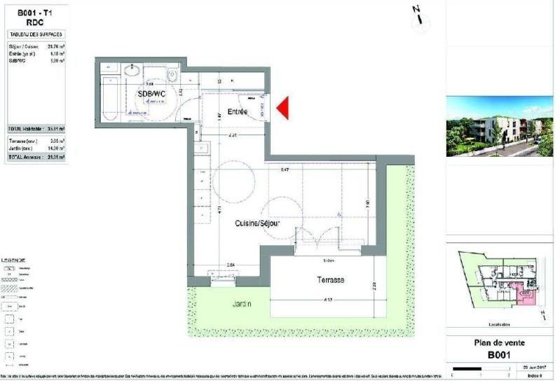 Location appartement Aix les bains 440€ CC - Photo 2