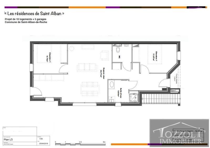 Vente appartement St alban de roche 219200€ - Photo 2