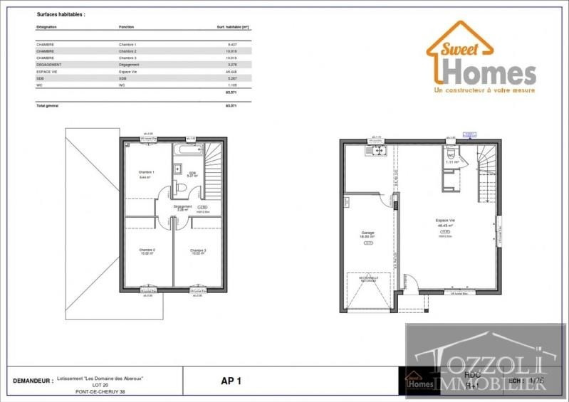 Sale house / villa La verpilliere 259601€ - Picture 2