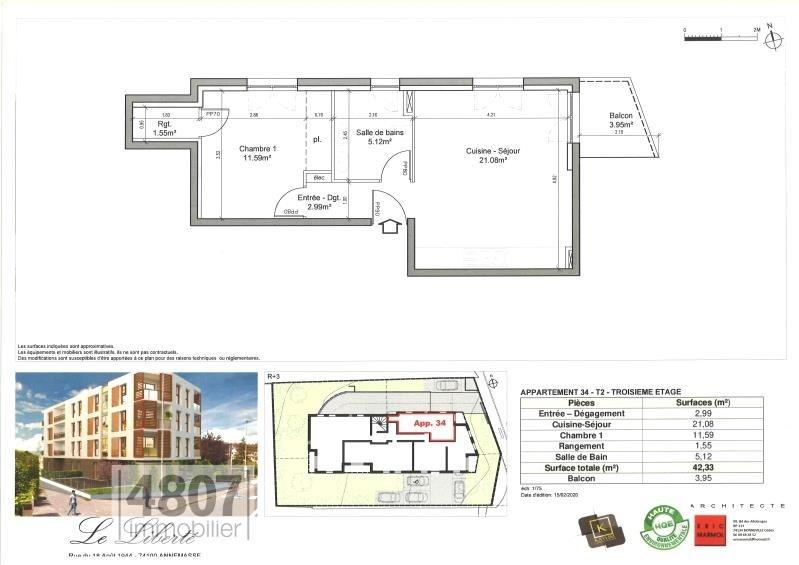 Produit d'investissement appartement Annemasse 215000€ - Photo 2
