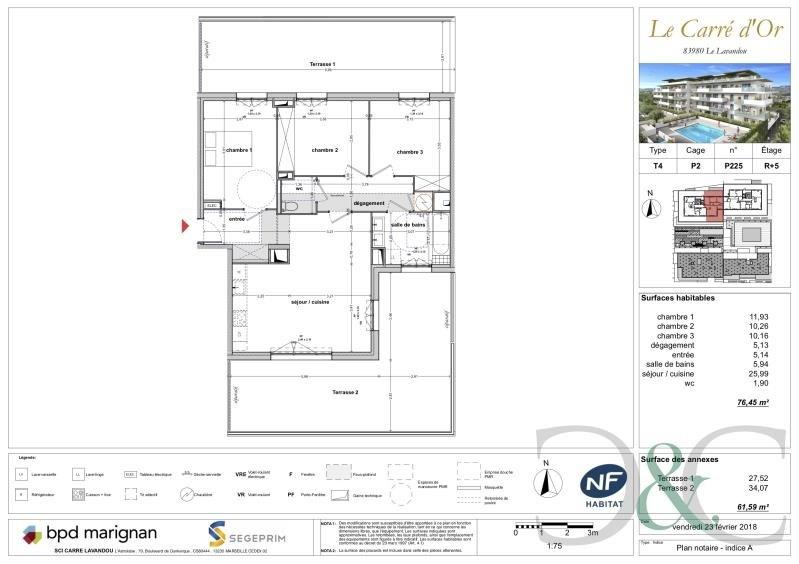 Sale apartment Le lavandou 415000€ - Picture 2
