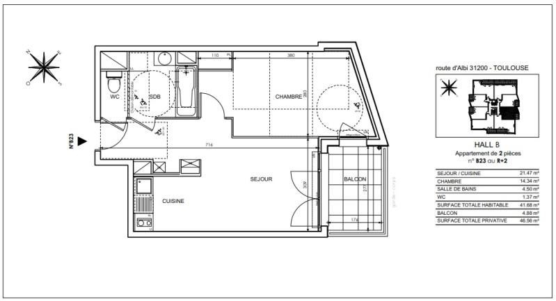 Vente appartement Toulouse 180000€ - Photo 8