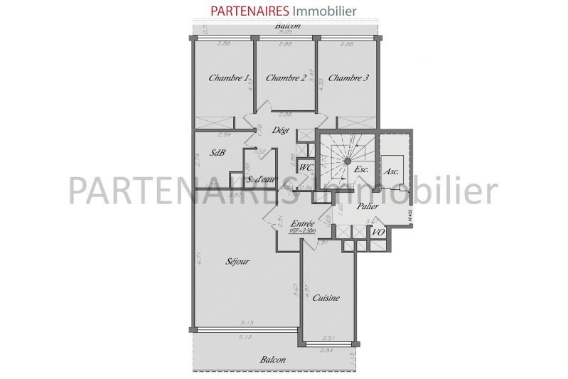 Sale apartment Le chesnay 597 000€ - Picture 8