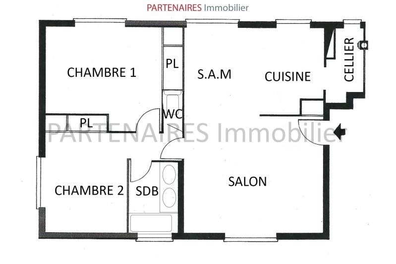 Sale apartment Le chesnay 220 000€ - Picture 8
