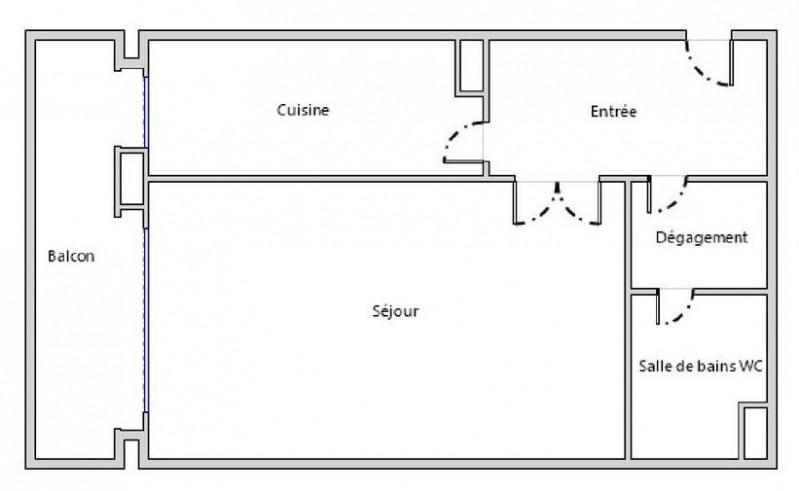 Locação apartamento Paris 15ème 1300€ CC - Fotografia 1