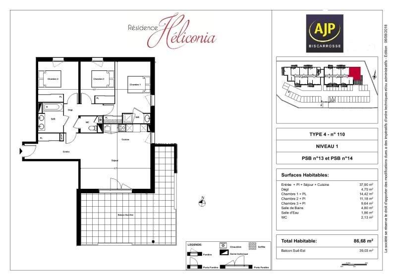 Vente de prestige appartement Biscarrosse 295000€ - Photo 1