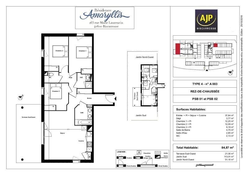 Vente de prestige appartement Biscarrosse 292000€ - Photo 1