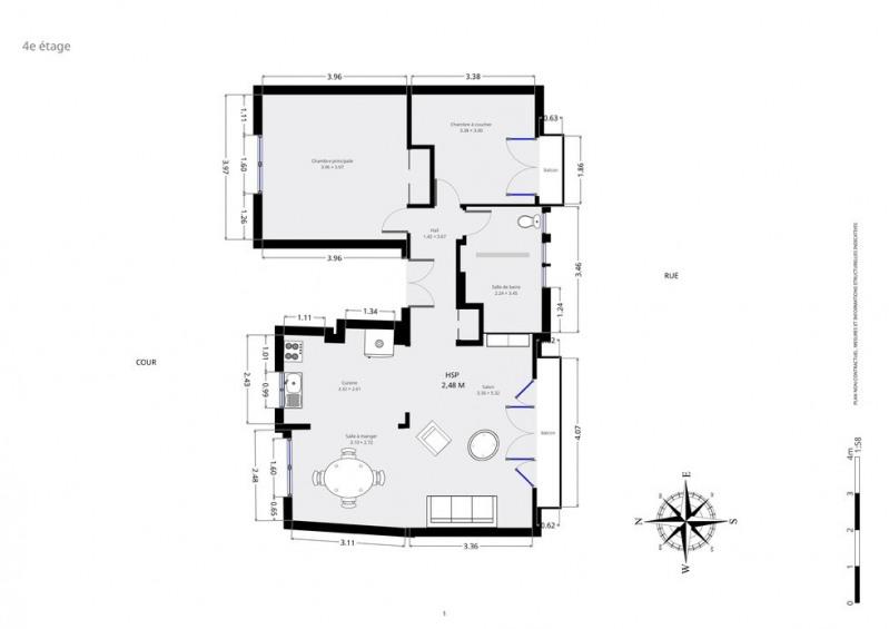 Vente appartement Paris 18ème 690000€ - Photo 9