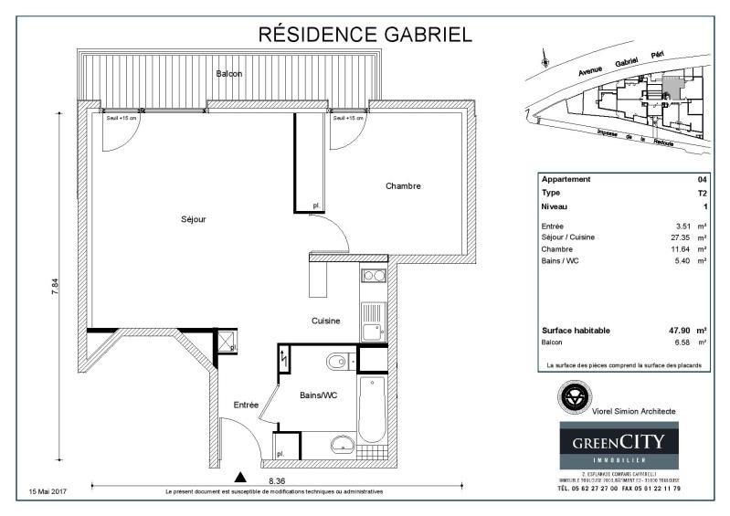 Rental apartment Noisy le sec 770€ CC - Picture 2