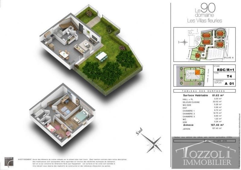 Sale house / villa Villefontaine 217000€ - Picture 2
