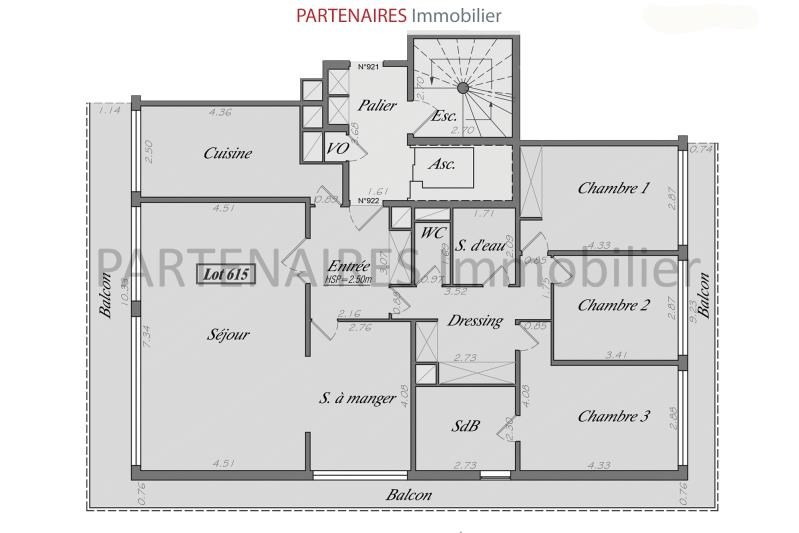 Vente appartement Le chesnay rocquencourt 656000€ - Photo 6