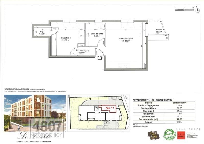 Produit d'investissement appartement Annemasse 195000€ - Photo 2